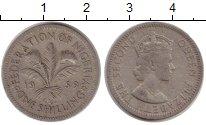 Изображение Монеты Нигерия 1 шиллинг 1959 Медно-никель VF Елизавета II