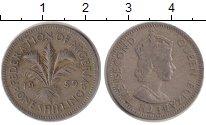 Изображение Монеты Нигерия 1 шиллинг 1959 Медно-никель XF Елизавета II. Протек