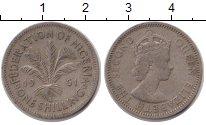 Изображение Монеты Нигерия 1 шиллинг 1961 Медно-никель VF Елизавета II