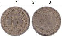 Изображение Монеты Нигерия 6 пенсов 1950 Медно-никель VF Елизавета II