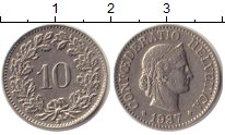 Изображение Монеты Швейцария 10 рапп 1937 Медно-никель XF