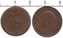 Изображение Монеты Великобритания 1 фартинг 1927 Бронза XF