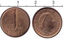 Изображение Монеты Нидерланды 1 цент 1972 Бронза XF
