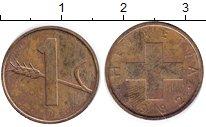 Изображение Монеты Швейцария 1 рапп 1982 Бронза XF