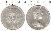 Изображение Монеты Остров Мэн 1 крона 1977 Медно-никель XF