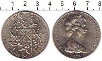 Изображение Монеты Новая Зеландия 1 доллар 1974 Медно-никель UNC