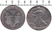 Изображение Монеты США 1 доллар 1991 Серебро Proof Шагающая Свобода.