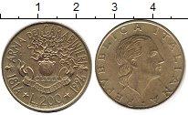Изображение Монеты Италия 200 лир 1994 Латунь XF 180 лет карабинерам