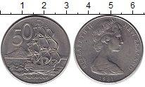 Изображение Монеты Новая Зеландия 50 центов 1981 Медно-никель XF