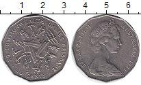 Изображение Монеты Австралия 50 центов 1982 Медно-никель XF Брисбенские игры.