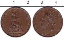 Изображение Монеты Великобритания 1 фартинг 1827 Медь XF Король Георг IV.