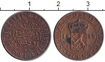 Изображение Монеты Нидерландская Индия 1/2 цента 1945 Медь XF