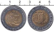 Изображение Монеты Сан-Марино 500 лир 1989 Биметалл XF