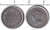 Изображение Монеты Канада 5 центов 1872 Серебро XF