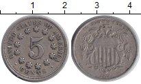 Изображение Монеты США 5 центов 1868 Медно-никель VF
