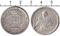 Изображение Монеты Сан-Марино 10 лир 1933 Серебро UNC- Девушка с мечем и ко