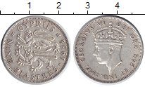 Изображение Монеты Кипр 9 пиастров 1938 Серебро XF