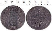 Изображение Монеты Бразилия 960 рейс 1816 Серебро XF-