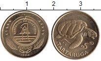 Изображение Монеты Кабо-Верде 1 эскудо 1994 Медно-никель XF Тартаруга - морская
