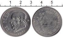Изображение Монеты Мексика 1 песо 1971 Медно-никель XF