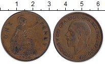 Изображение Монеты Великобритания 1 пенни 1928 Медь XF Георг V