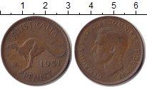 Изображение Монеты Австралия 1 пенни 1951 Медь XF