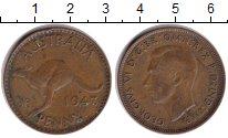 Изображение Монеты Австралия 1 пенни 1943 Медь XF