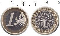 Изображение Монеты Франция 1 евро 2007 Биметалл Proof