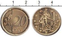 Изображение Монеты Франция 20 евроцентов 2007 Медь Proof