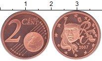 Изображение Монеты Франция 2 евроцента 2007 Медь Proof