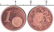 Изображение Монеты Франция 1 евроцент 2007 Медь Proof
