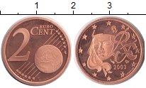 Изображение Монеты Франция 2 евроцента 2003 Медь Proof