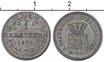 Изображение Монеты Бавария 1 крейцер 1871 Серебро XF