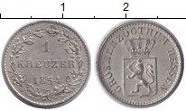 Изображение Монеты Гессен 1 крейцер 1854 Серебро XF