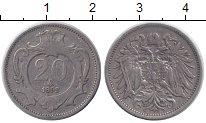 Изображение Монеты Австрия 20 геллеров 1892 Медно-никель VF