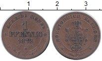 Изображение Монеты Саксония 1 пфенниг 1872 Медь XF