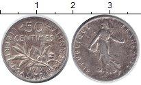 Изображение Монеты Франция 50 сантимов 1919 Серебро XF