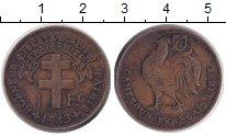 Изображение Монеты Камерун 1 франк 1943 Медь VF Петух.