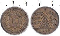 Изображение Монеты Веймарская республика 10 пфеннигов 1925  XF E