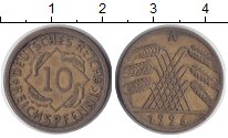 Изображение Монеты Веймарская республика 10 пфеннигов 1926  XF