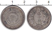 Изображение Монеты Япония 20 сен 1907 Серебро XF Y#30