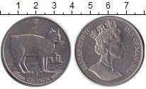 Изображение Монеты Остров Мэн 1 крона 1988 Медно-никель UNC- Елизавета II. Кошки