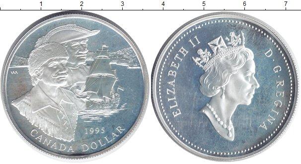 Картинка Монеты Канада 1 доллар Серебро 1995