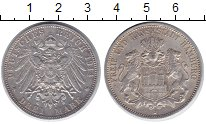Изображение Монеты Гамбург 3 марки 1914 Серебро XF