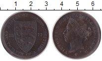 Изображение Монеты Остров Джерси 1/12 шиллинга 1877 Бронза XF Королева Виктория.(Н