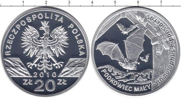 Польша 20 злотых подковонос топиарий из монет фото