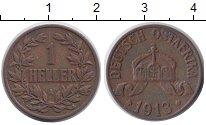 Изображение Монеты Немецкая Африка 1 геллер 1913 Бронза XF