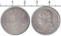 Изображение Монеты Ватикан 1 лира 1866 Серебро XF Пий IX