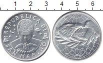 Изображение Монеты Сан-Марино 5.000 лир 2000 Серебро UNC Милленниум.