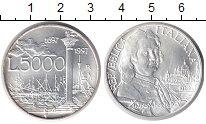 Изображение Монеты Италия 5000 лир 1996 Серебро UNC 300 - летие со дня р